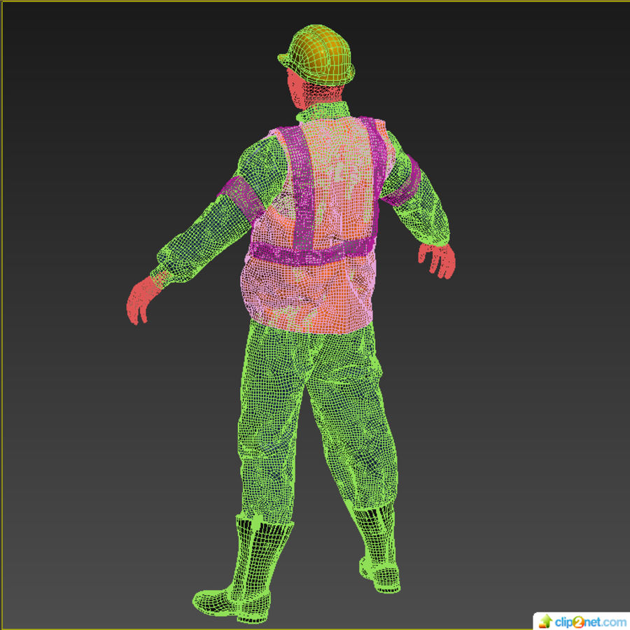 Worker royalty-free 3d model - Preview no. 7