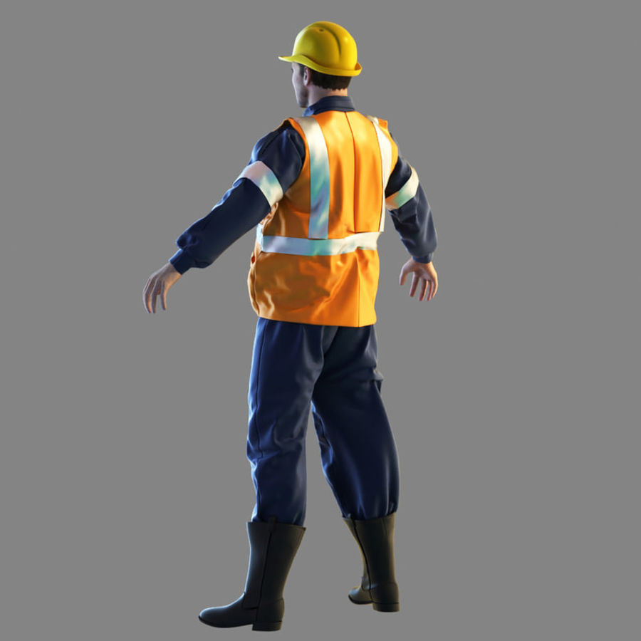 Worker royalty-free 3d model - Preview no. 8