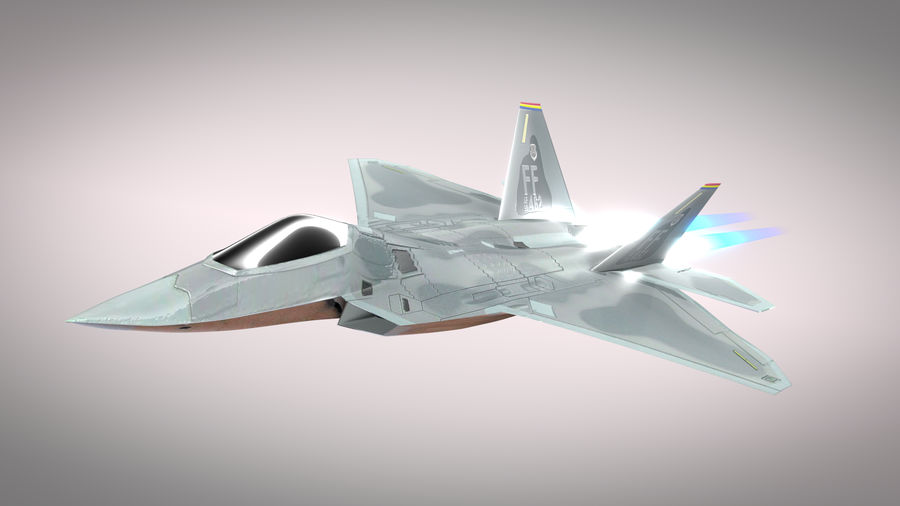 F-22 Raptor royalty-free 3d model - Preview no. 2