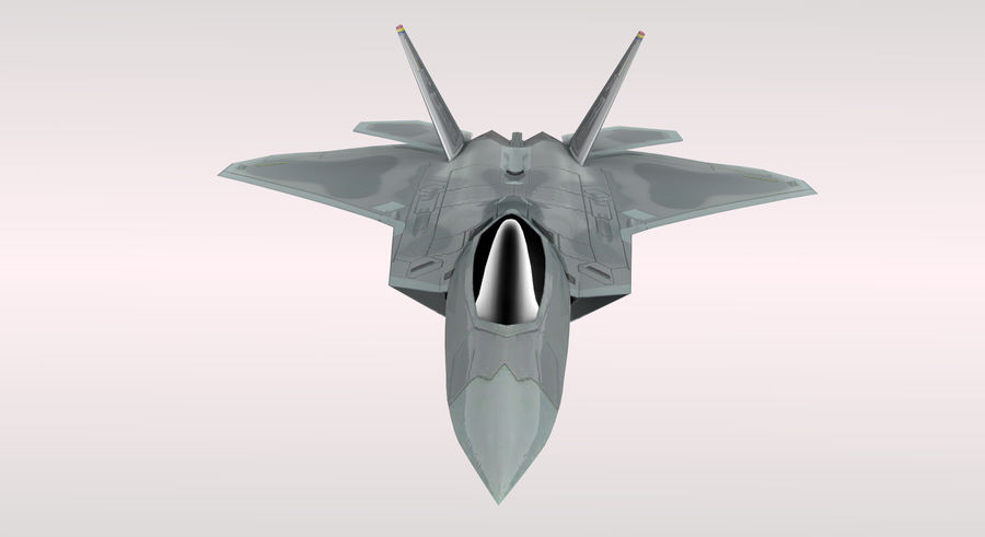 F-22 Raptor royalty-free 3d model - Preview no. 6