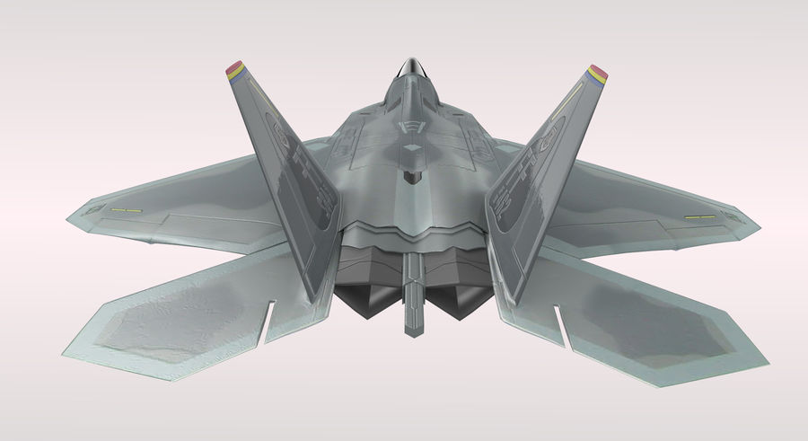 F-22 Raptor royalty-free 3d model - Preview no. 8