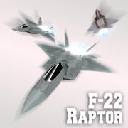 F-22 Raptor modelo 3d