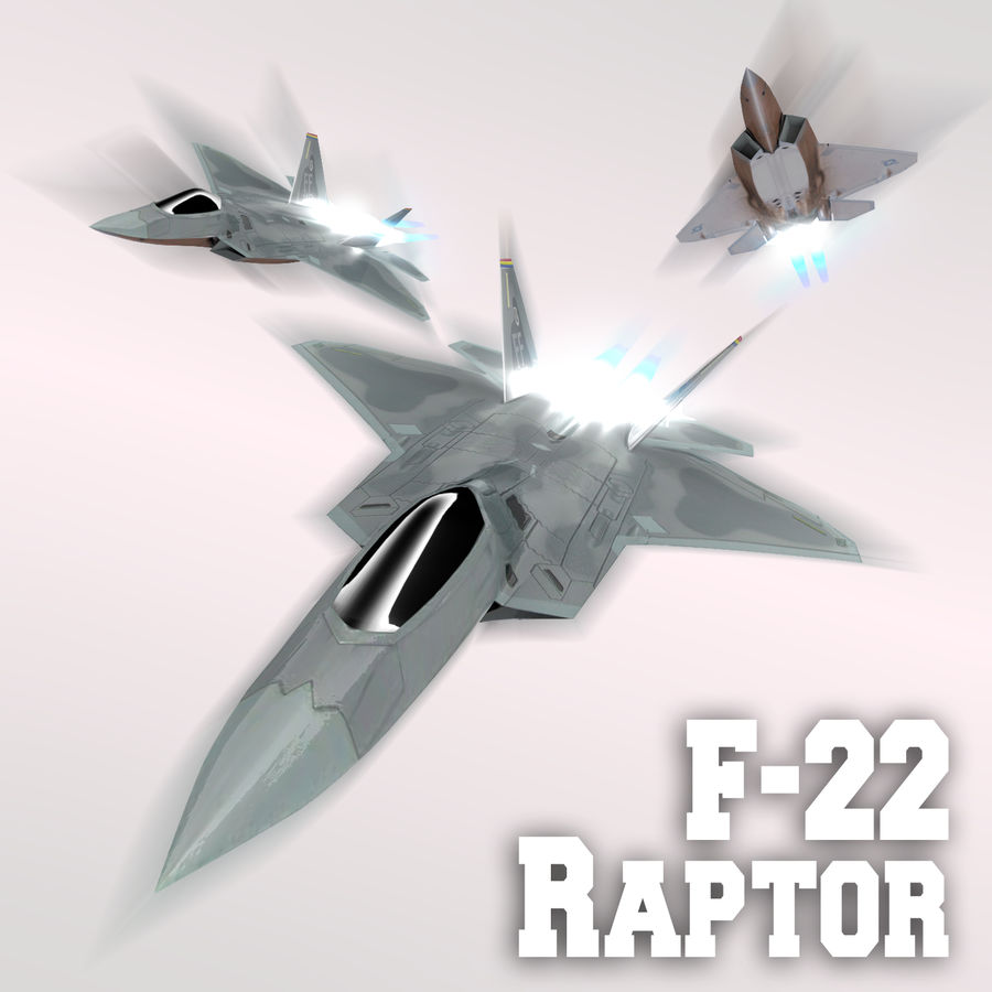 F-22 Raptor royalty-free 3d model - Preview no. 1