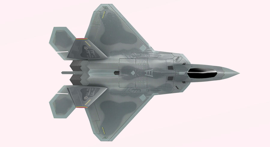 F-22 Raptor royalty-free 3d model - Preview no. 10