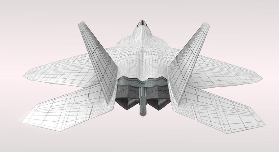 F-22 Raptor royalty-free 3d model - Preview no. 9