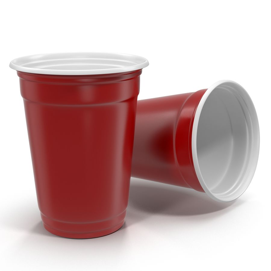 Solo Cup royalty-free 3d model - Preview no. 2