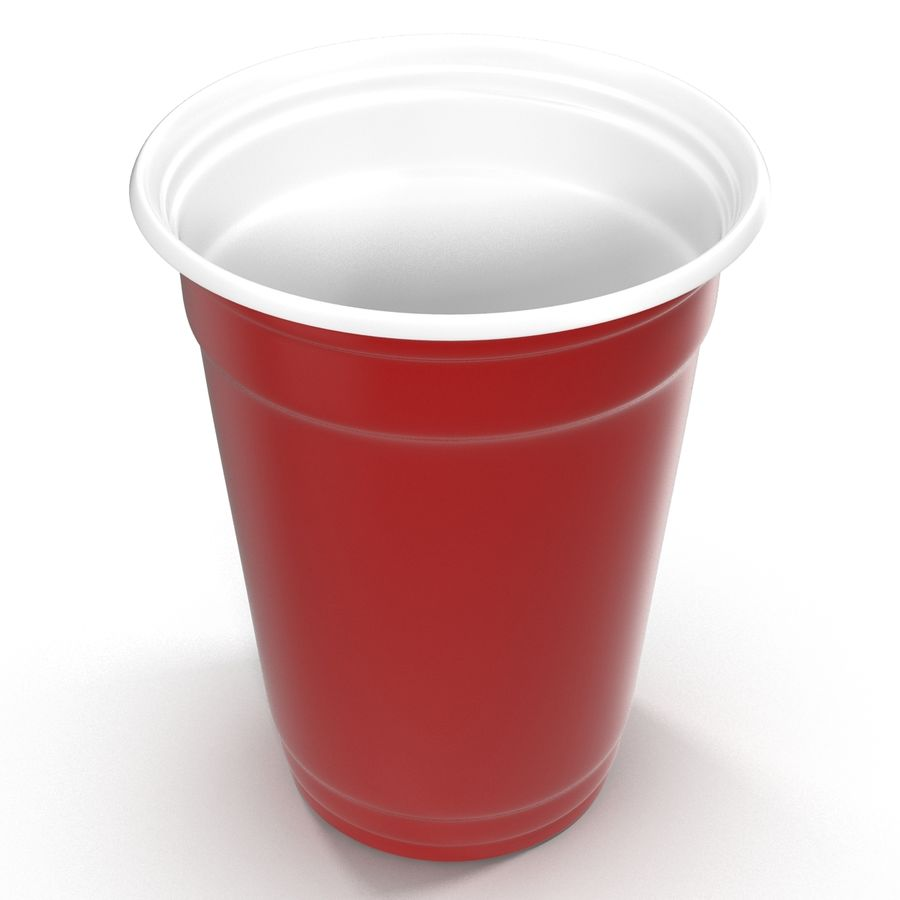 Solo Cup royalty-free 3d model - Preview no. 3