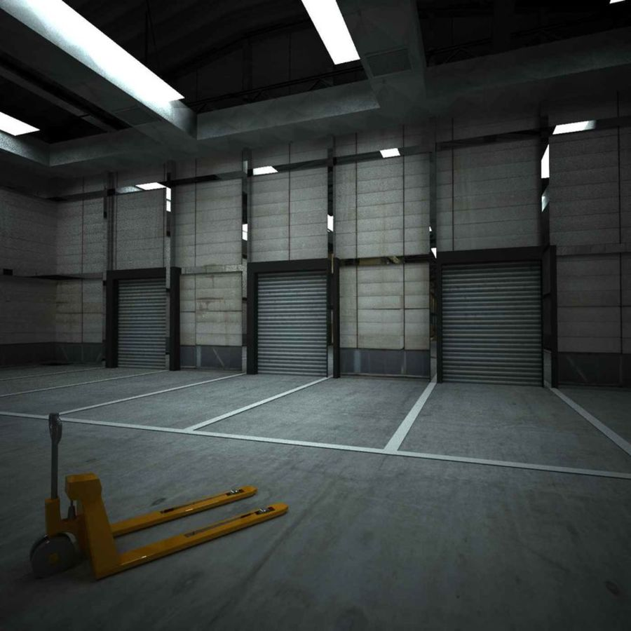 warehouse royalty-free 3d model - Preview no. 8