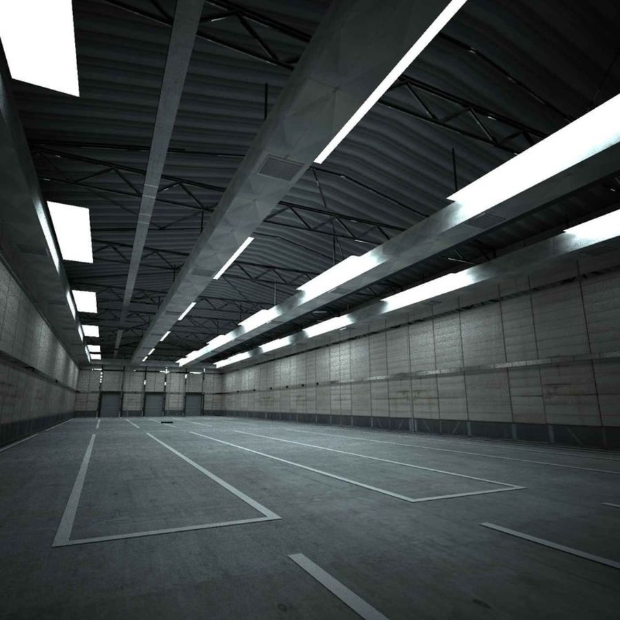 warehouse royalty-free 3d model - Preview no. 2