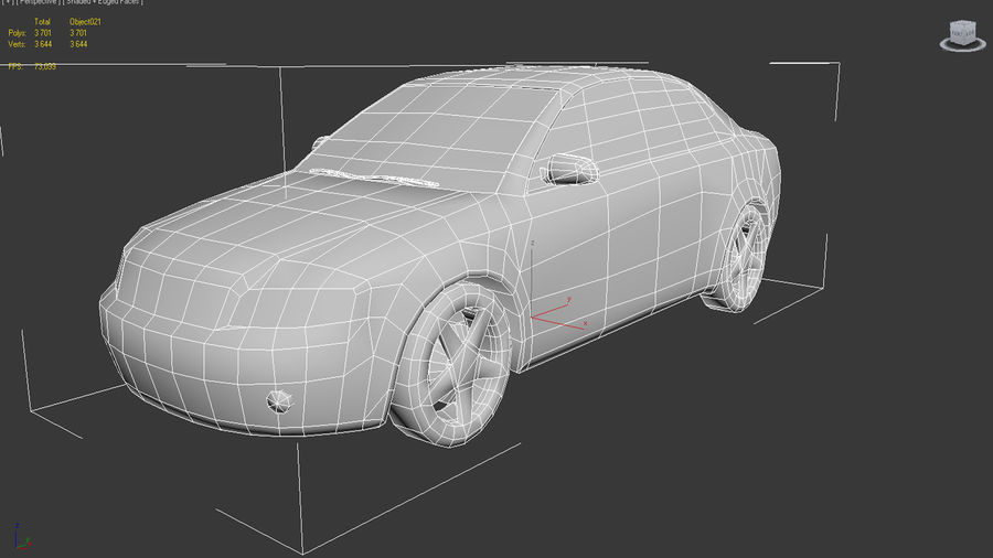 car royalty-free 3d model - Preview no. 4