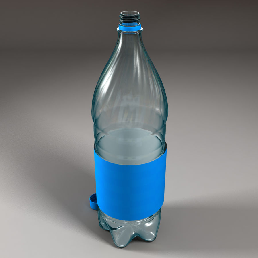 Plastic Bottle royalty-free 3d model - Preview no. 6