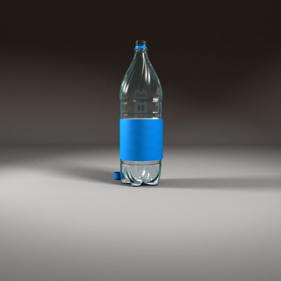 Plastic Bottle royalty-free 3d model - Preview no. 8
