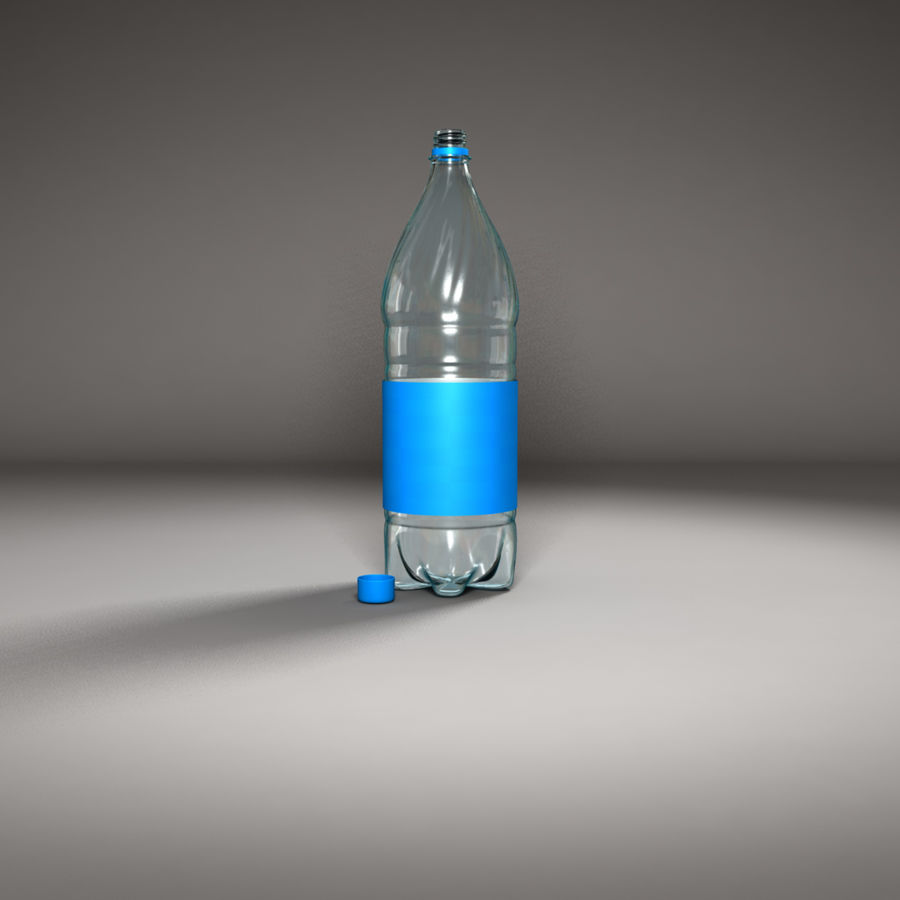 Plastic Bottle royalty-free 3d model - Preview no. 9