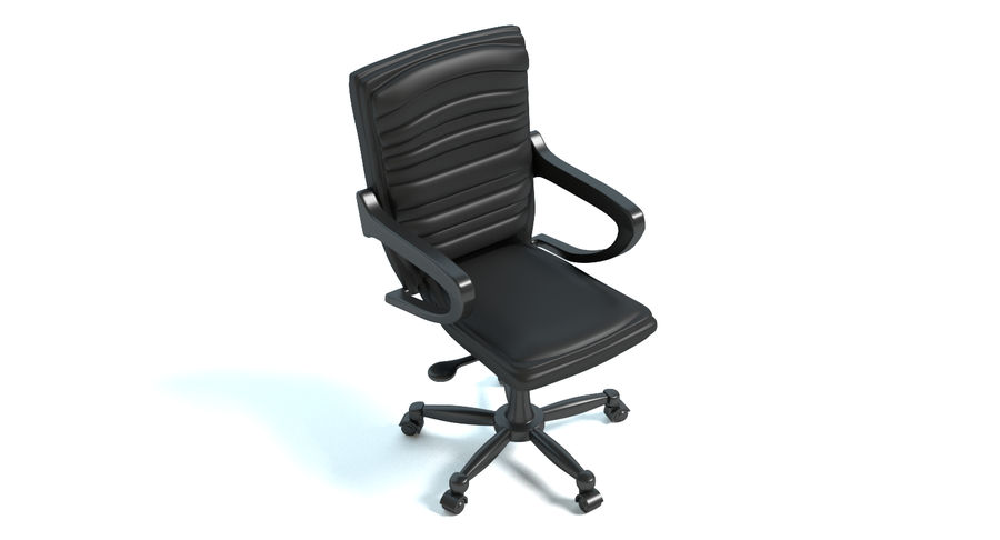 Chaise de bureau royalty-free 3d model - Preview no. 3