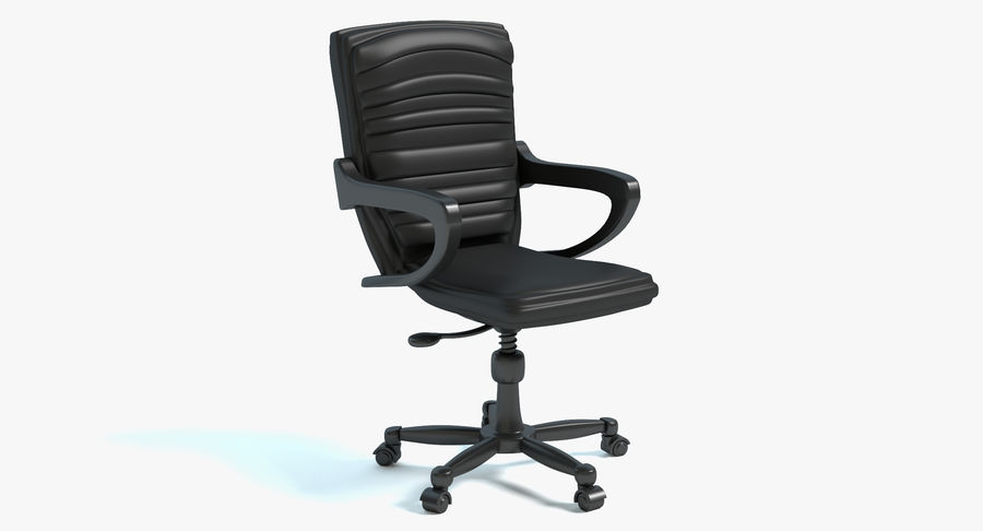 Chaise de bureau royalty-free 3d model - Preview no. 2