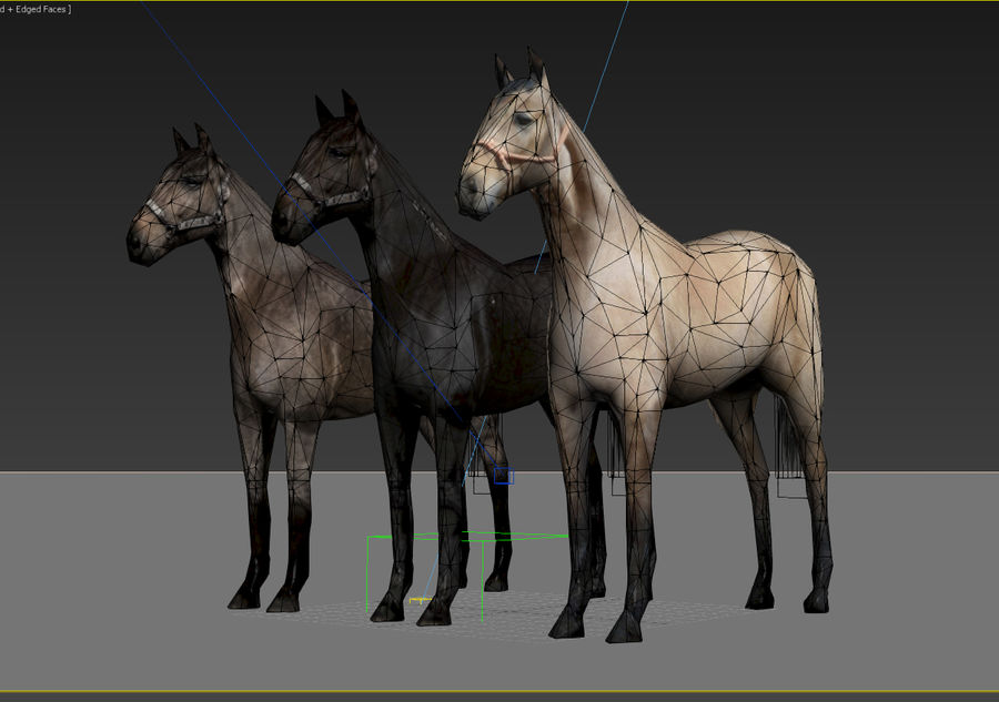 Horse royalty-free 3d model - Preview no. 10