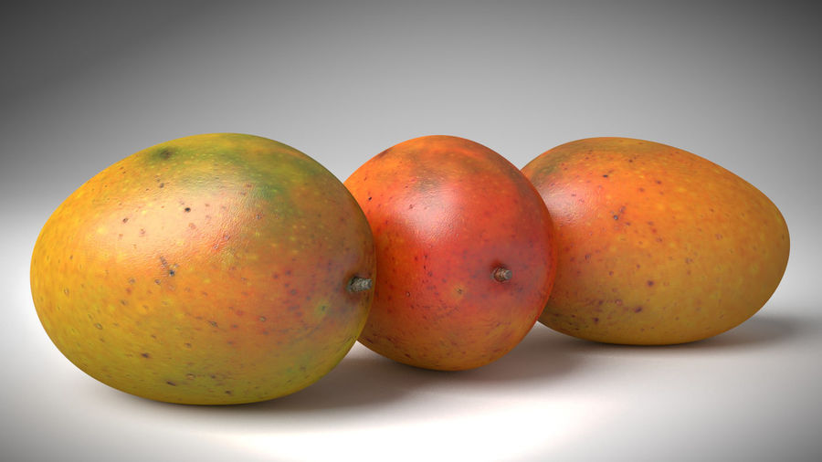 Realistic Mango royalty-free 3d model - Preview no. 3