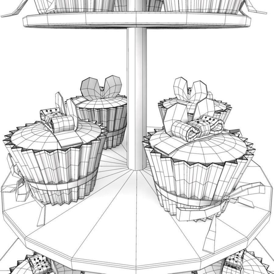 cupcake posto sul pavimento royalty-free 3d model - Preview no. 8