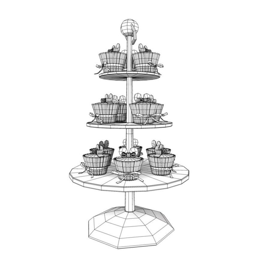 cupcake posto sul pavimento royalty-free 3d model - Preview no. 7