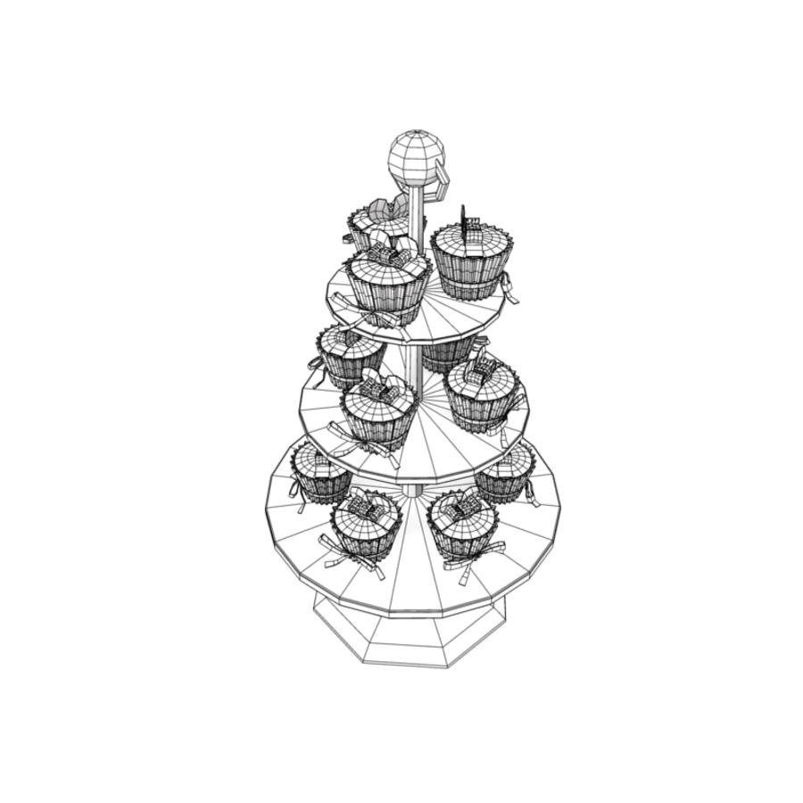cupcake posto sul pavimento royalty-free 3d model - Preview no. 6