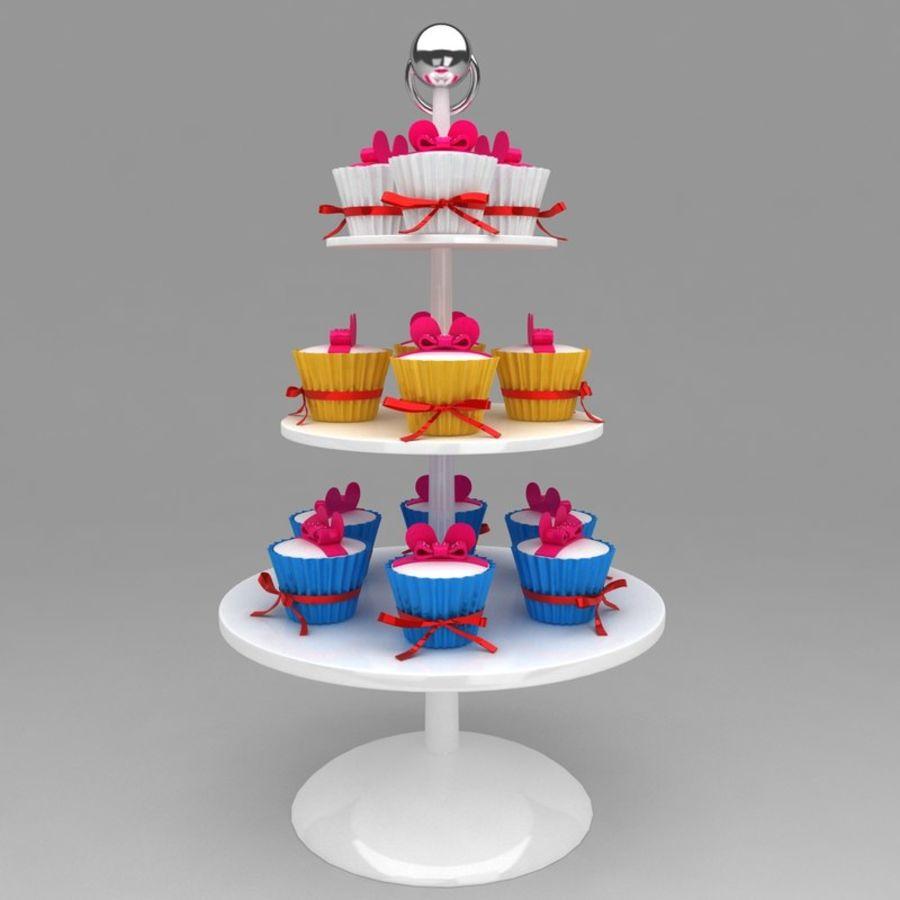 cupcake posto sul pavimento royalty-free 3d model - Preview no. 1