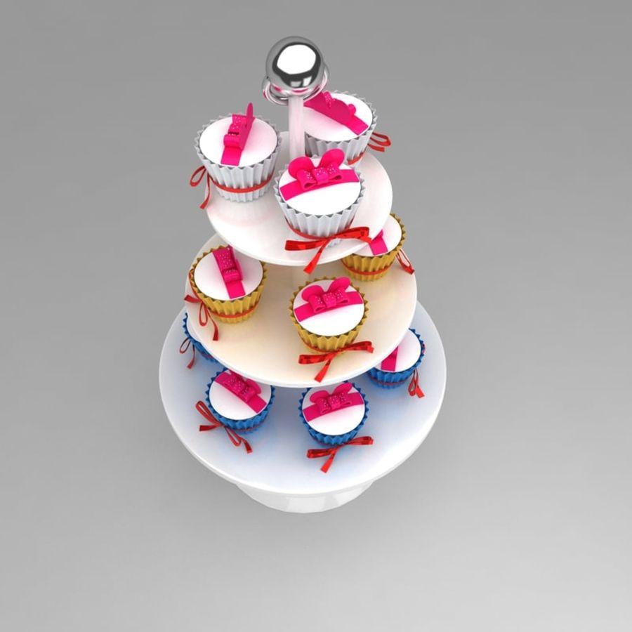 cupcake posto sul pavimento royalty-free 3d model - Preview no. 3