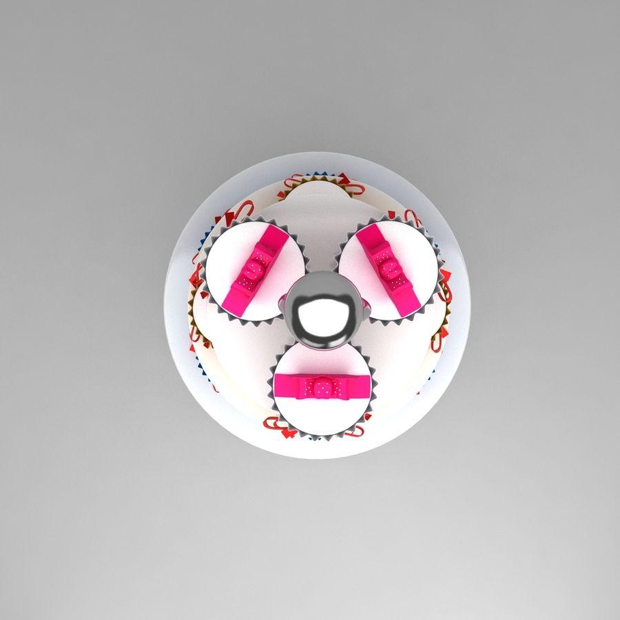 cupcake posto sul pavimento royalty-free 3d model - Preview no. 5
