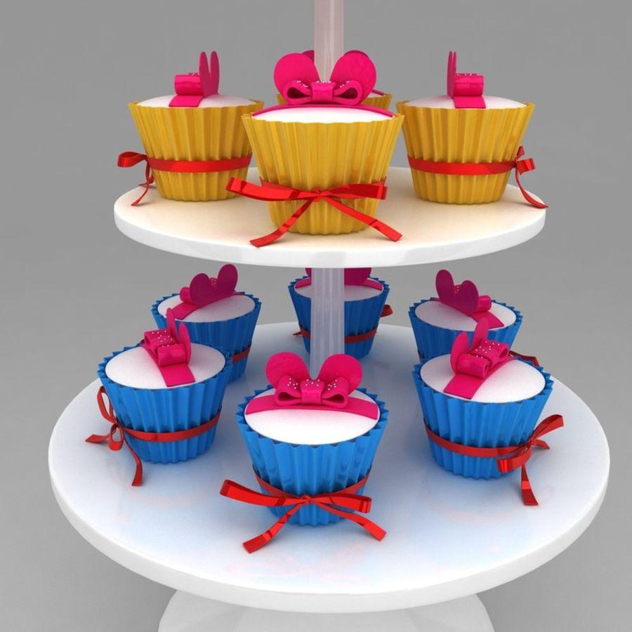 cupcake posto sul pavimento royalty-free 3d model - Preview no. 4
