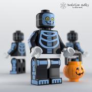 Lego Skeleton Guy Figure 3d model