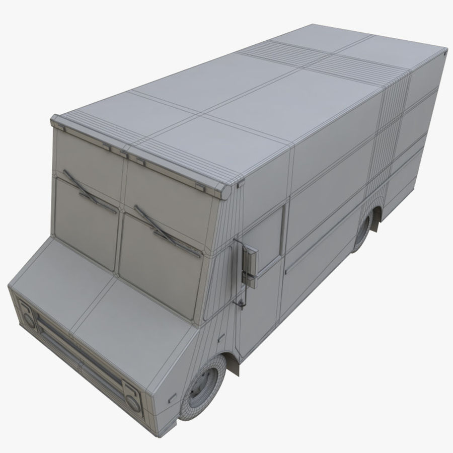FedEx Truck royalty-free 3d model - Preview no. 9