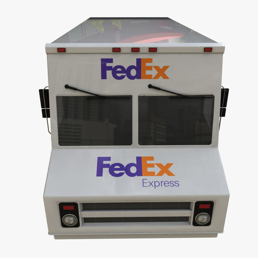 FedEx Truck royalty-free 3d model - Preview no. 7