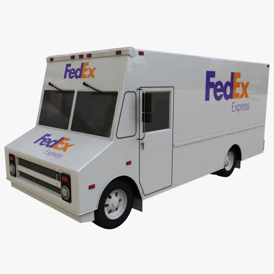FedEx Truck royalty-free 3d model - Preview no. 1