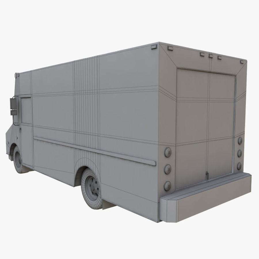 FedEx Truck royalty-free 3d model - Preview no. 10