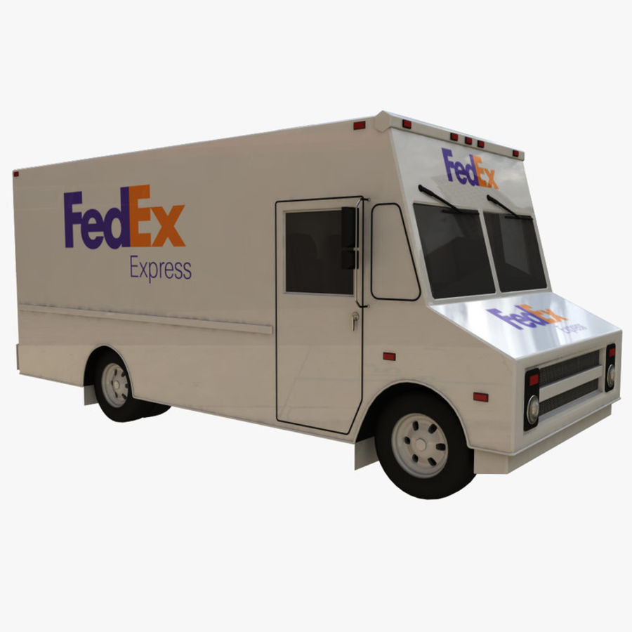 FedEx Truck royalty-free 3d model - Preview no. 5