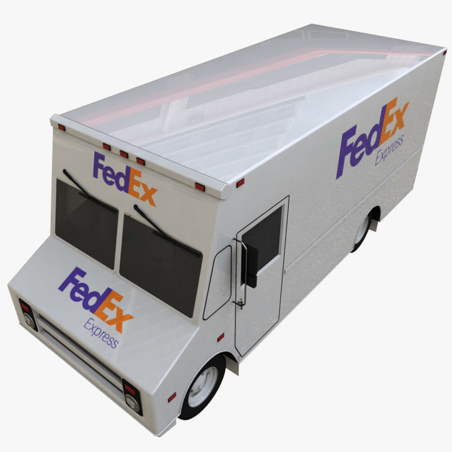 FedEx Truck royalty-free 3d model - Preview no. 8