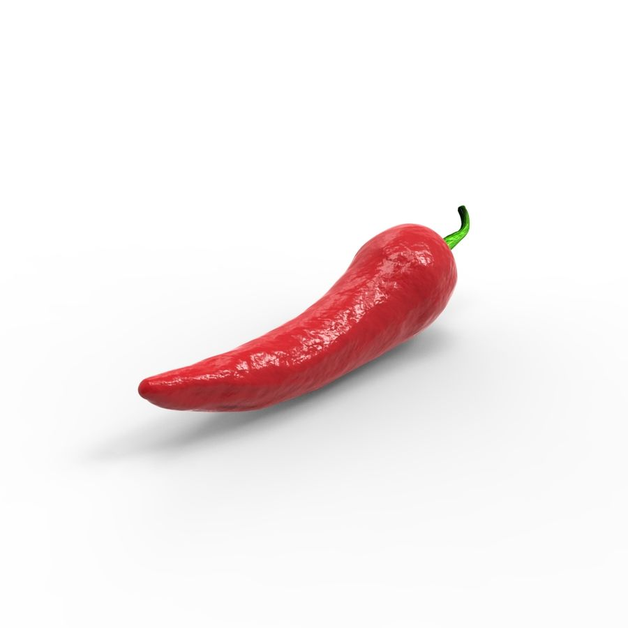 Red Chili royalty-free 3d model - Preview no. 5