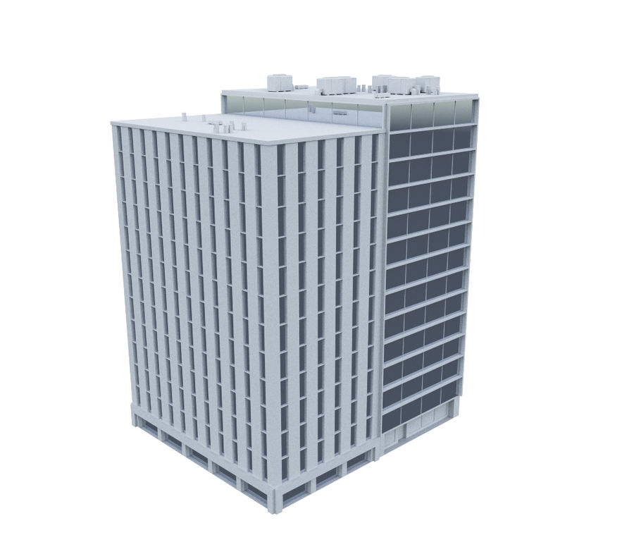 Office Building 02 royalty-free 3d model - Preview no. 2