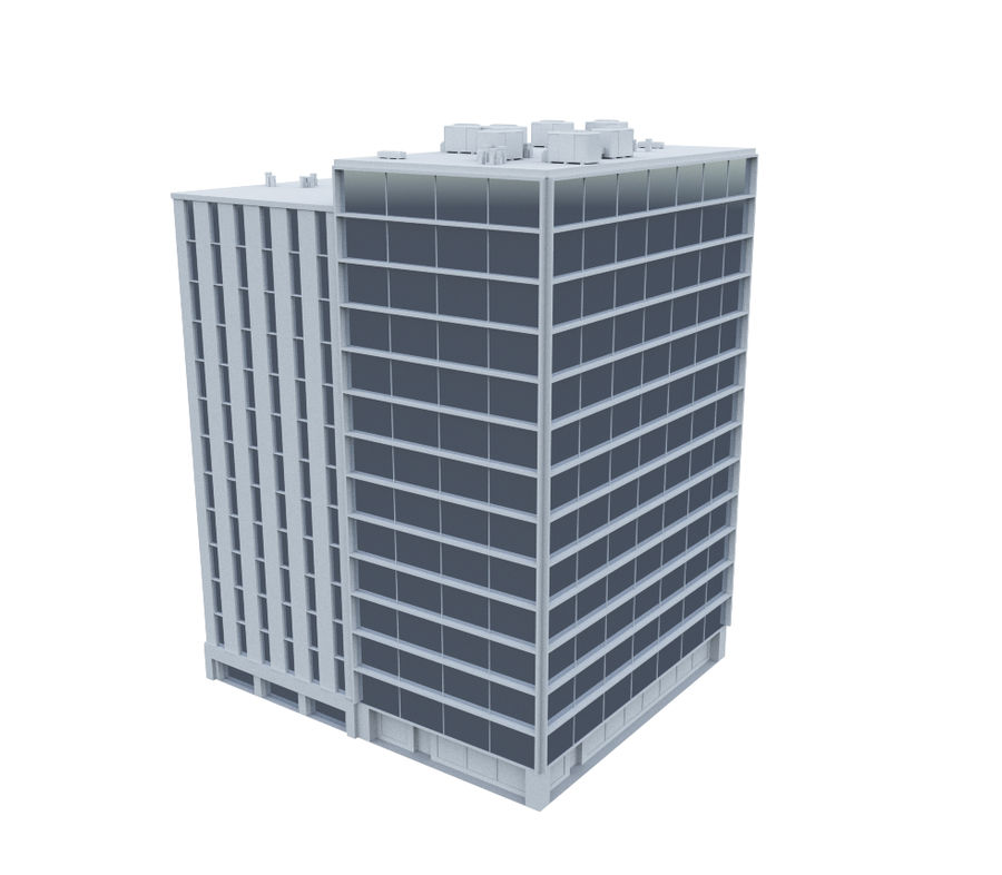 Office Building 02 royalty-free 3d model - Preview no. 3