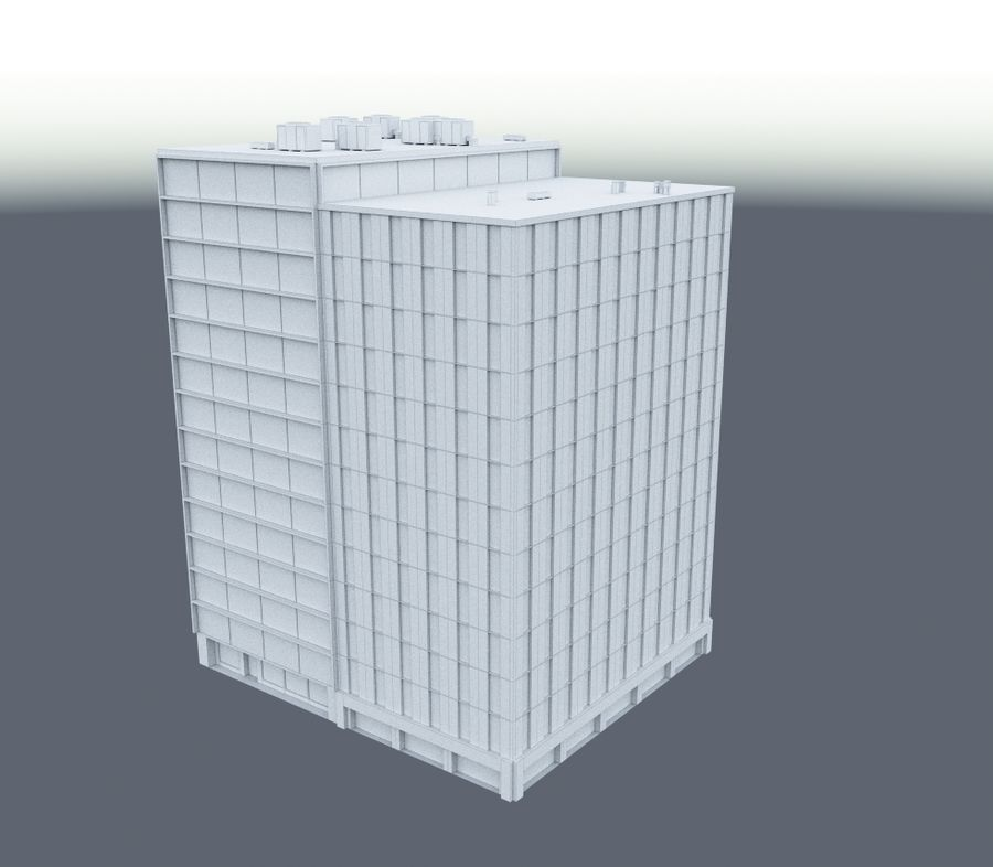 Office Building 02 royalty-free 3d model - Preview no. 5