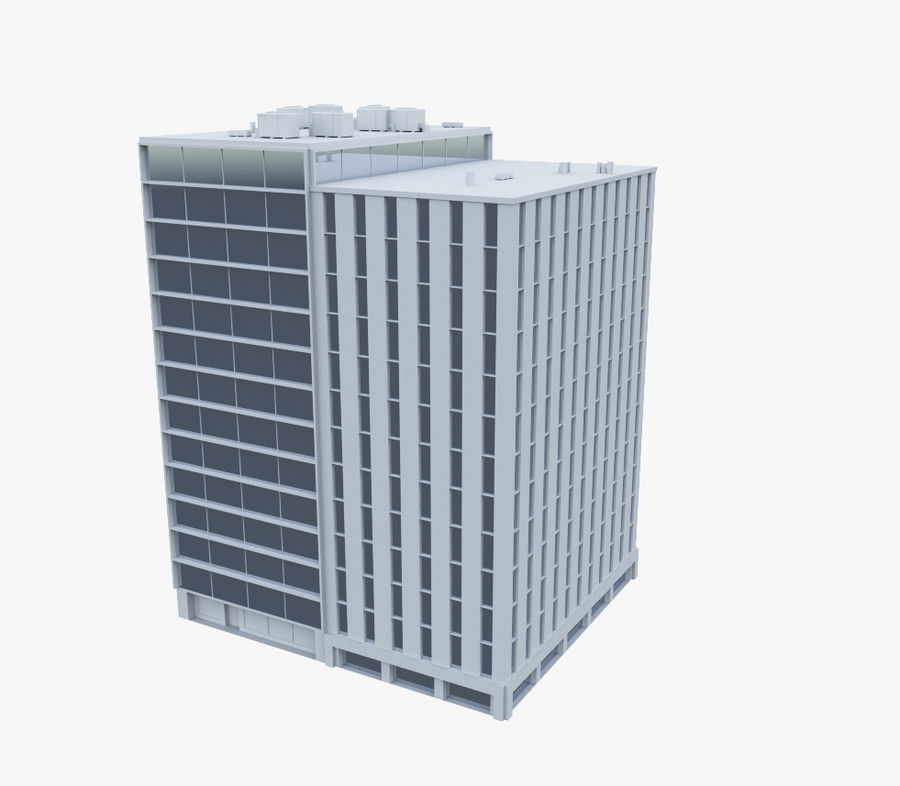 Office Building 02 royalty-free 3d model - Preview no. 1
