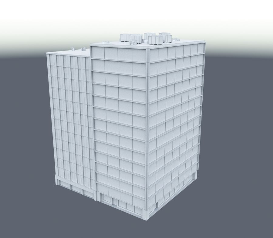 Office Building 02 royalty-free 3d model - Preview no. 4