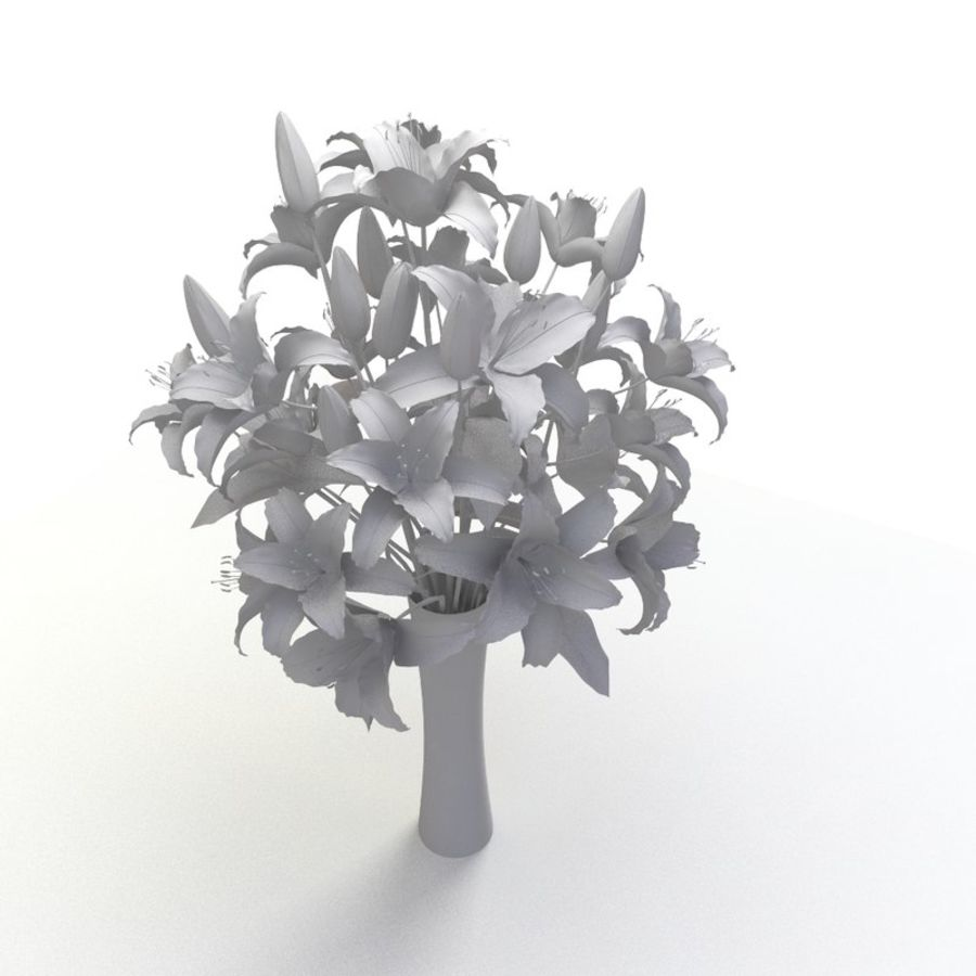 Lily white flower vase 3d model 19 x obj fbx free3d lily white flower vase royalty free 3d model preview no 5 izmirmasajfo