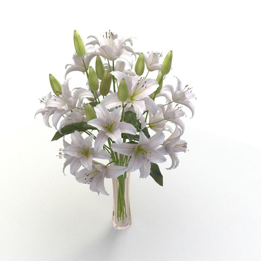 Lily White Flower Vase 3d Model 19 X Obj Fbx Free3d