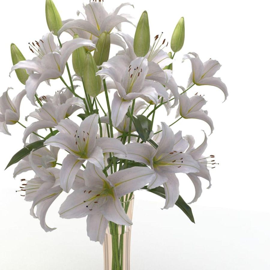 Lily white flower vase 3d model 19 x obj fbx free3d lily white flower vase royalty free 3d model preview no 3 izmirmasajfo