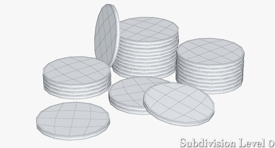 Casino Chips 2 royalty-free 3d model - Preview no. 11