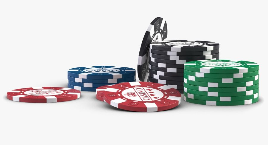 Casino Chips 2 royalty-free 3d model - Preview no. 6