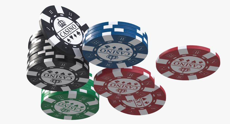 Casino Chips 2 royalty-free 3d model - Preview no. 4