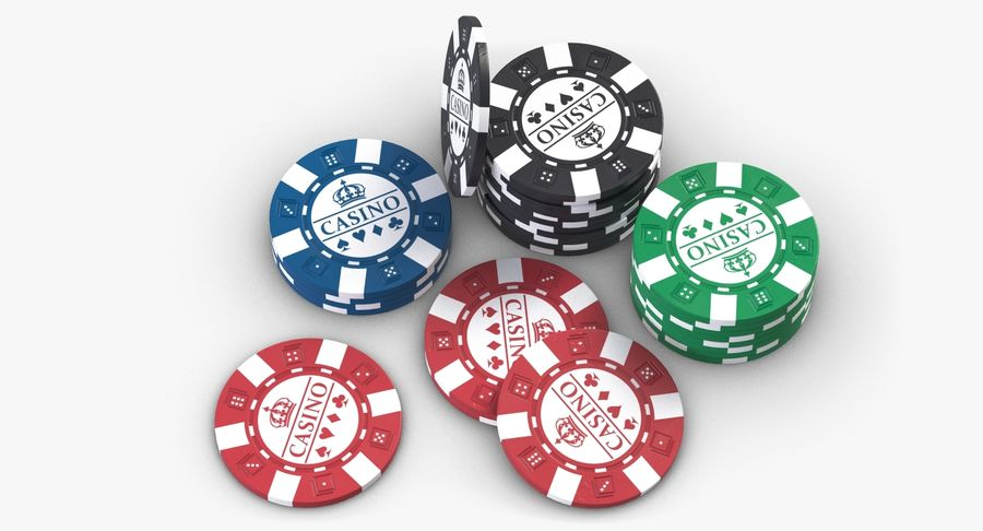 Casino Chips 2 royalty-free 3d model - Preview no. 7
