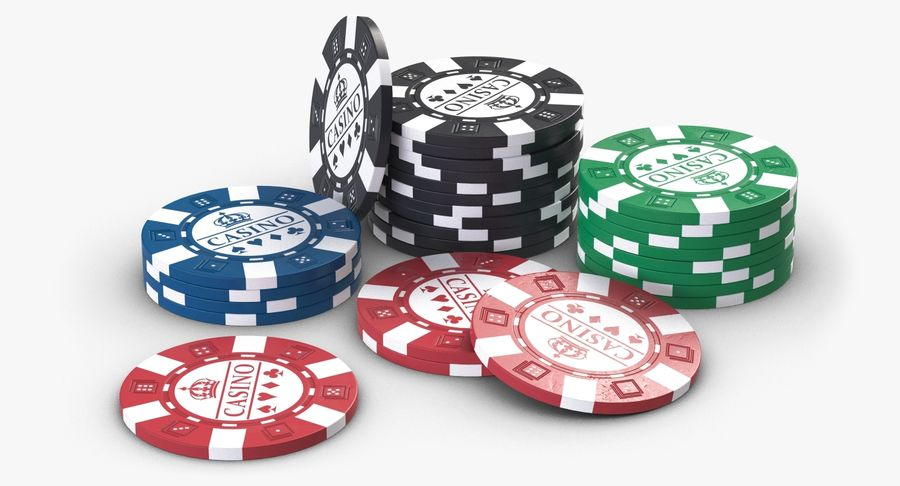 Casino Chips 2 royalty-free 3d model - Preview no. 2