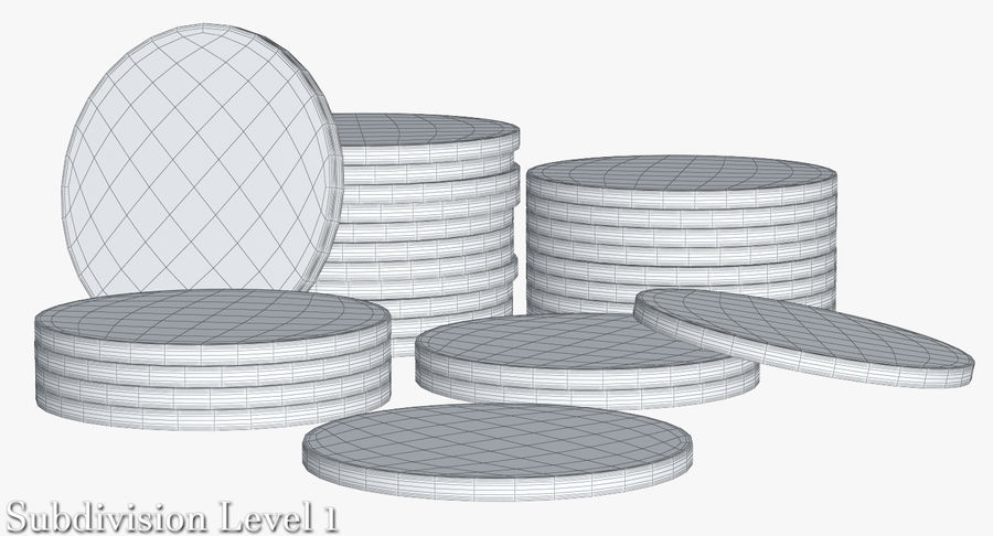 Casino Chips 2 royalty-free 3d model - Preview no. 16